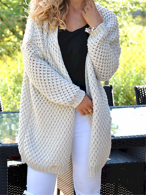 Autumn and winter loose casual fashion cardigan sweater coat