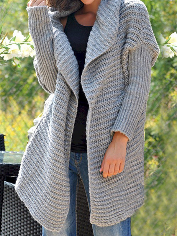 Autumn And Winter Loose Casual Fashion Hooded Cardigan Sweater Coat