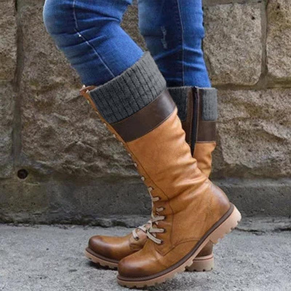 Plus Size Daily Vintage Soft Waterproof Snow Boots