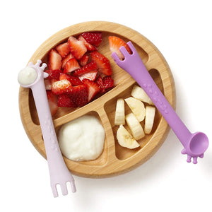 Ali+Oli Fork & Spoon for Baby (Lilac/Purple)