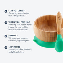 Load image into Gallery viewer, Avanchy Bamboo Suction Baby Bowl + Spoon