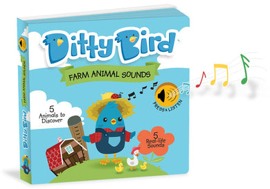 Ditty Bird Farm Animals Sound Board Book