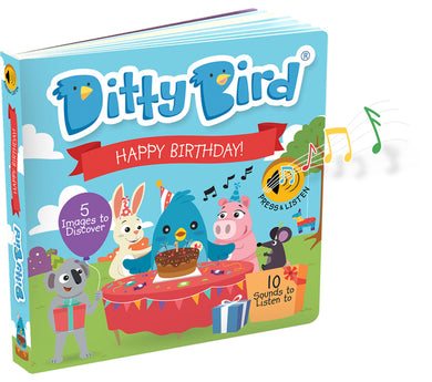 Ditty Bird Happy Birthday Board Book