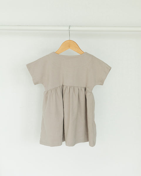 Taupe Simple Snap Dress