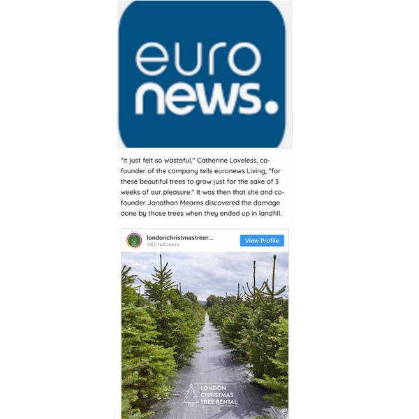 Euro News - London Christmas Tree Rental Press Coverage