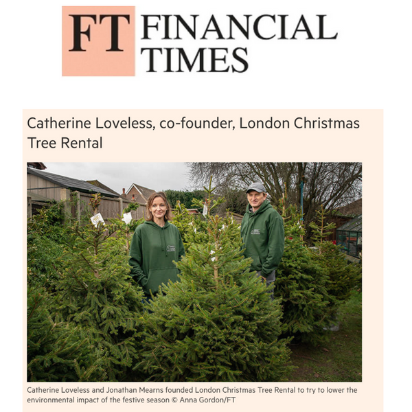 Financial Times FT - London Christmas Tree Rental Press Coverage