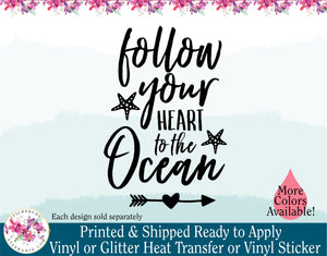 (s146) Follow Your Heart to the Ocean - StickersbyStephanie