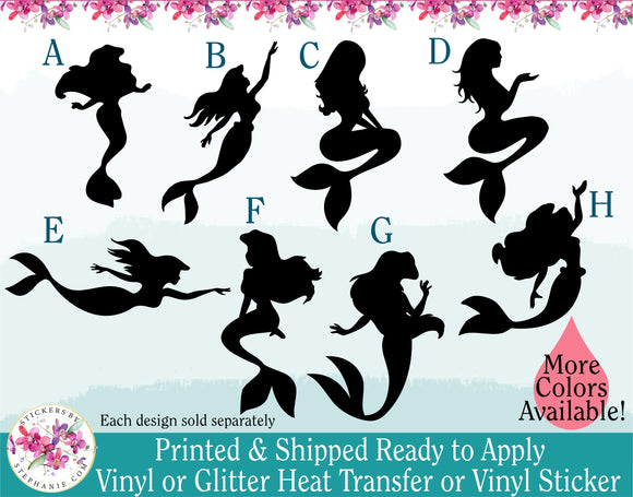 (s198) Mermaid Mermaids Monogram