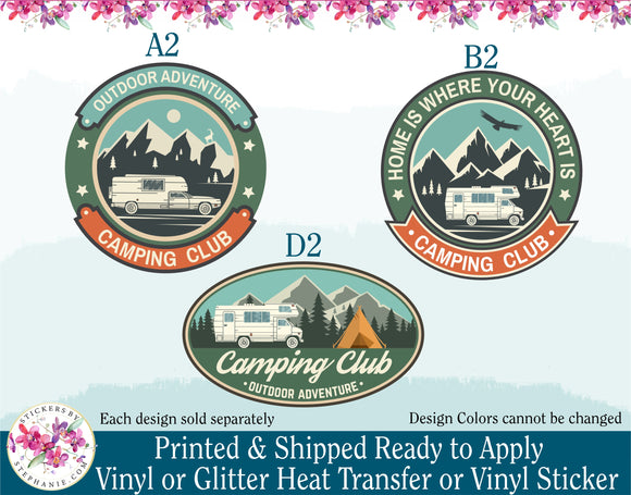 (s228) Camping Club Outdoor Adventure - StickersbyStephanie