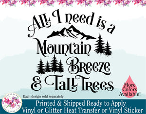 (s228) All I Need is a Mountain Breeze and Tall Trees