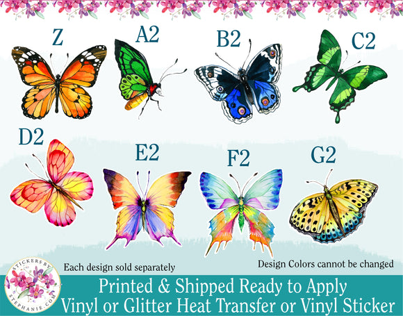 (s24) Watercolor Butterfly Butterflies Monarch Moth