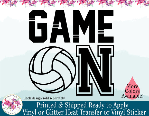 (s54) Game On Volleyball Water Polo - StickersbyStephanie