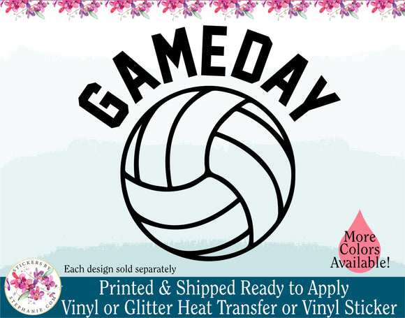 (s54) Gameday Volleyball Water Polo - StickersbyStephanie