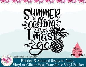 (s96) Summer is Calling and I Must Go - StickersbyStephanie
