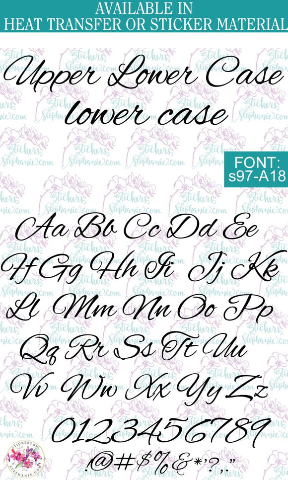 Custom Lettering Name Text Font: s97-A18 - StickersbyStephanie