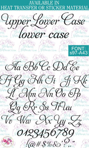 Custom Lettering Name Text Font: s97-A43 - StickersbyStephanie