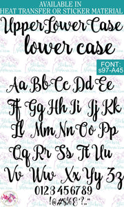 Custom Lettering Name Text Font: s97-A45 - StickersbyStephanie