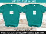 Sizing Guide Help - For Information Only - Adult 5XL 5-XL XXXXL Shirt Size