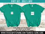 Sizing Guide Help - For Information Only - Ladies Adult L Large V-Neck Shirt Size