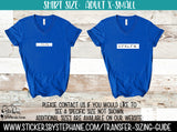 Sizing Guide Help - For Information Only - Ladies Adult XS X-Small V-Neck Shirt Size