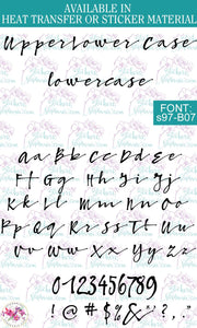 Custom Lettering Name Text  Font: s97-B07 - StickersbyStephanie