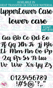 Custom Lettering Name Text Font: s97-B18 - StickersbyStephanie