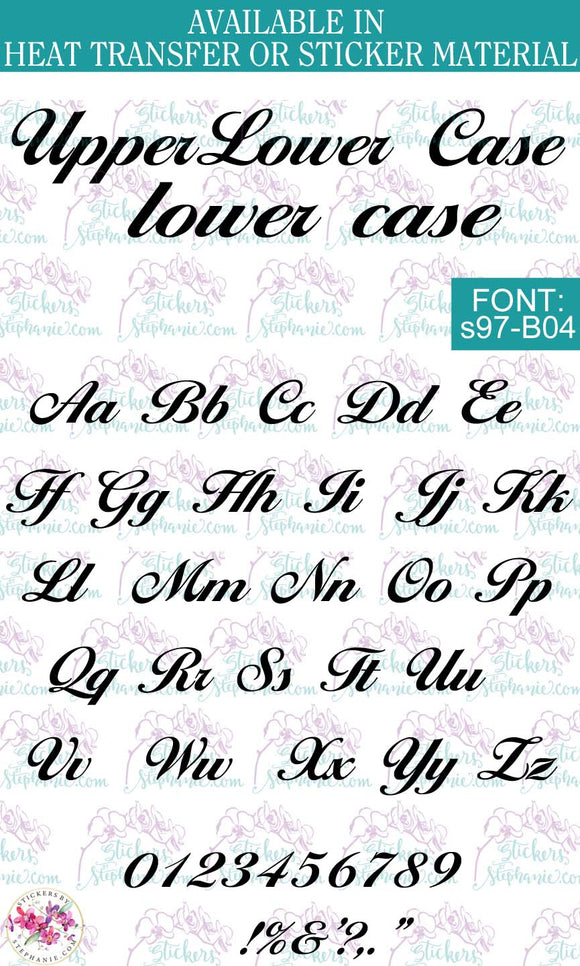 Custom Lettering Name Text  Font: s97-B04 - StickersbyStephanie