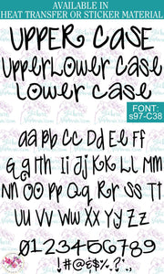 Custom Lettering Name Text Font: s97-C38 - StickersbyStephanie