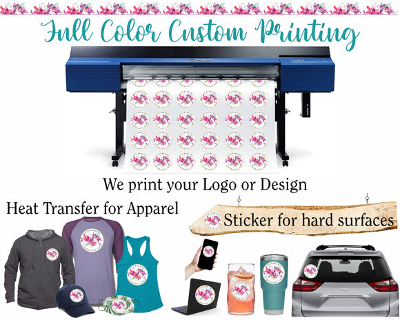 Full Color Custom Printing for Your Logo or Design