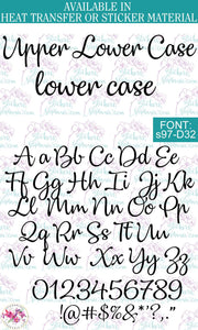 Custom Lettering Name Text Font: s97-D32 - StickersbyStephanie