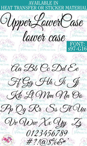 Custom Lettering Name Text  Font: s97-G16 - StickersbyStephanie