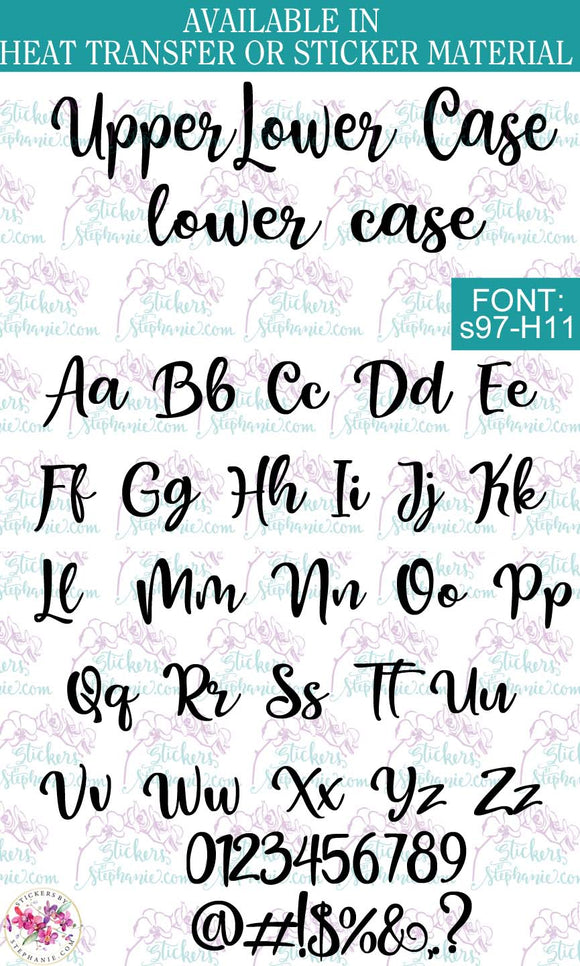 Custom Lettering Name Text  Font: s97-H11 - StickersbyStephanie