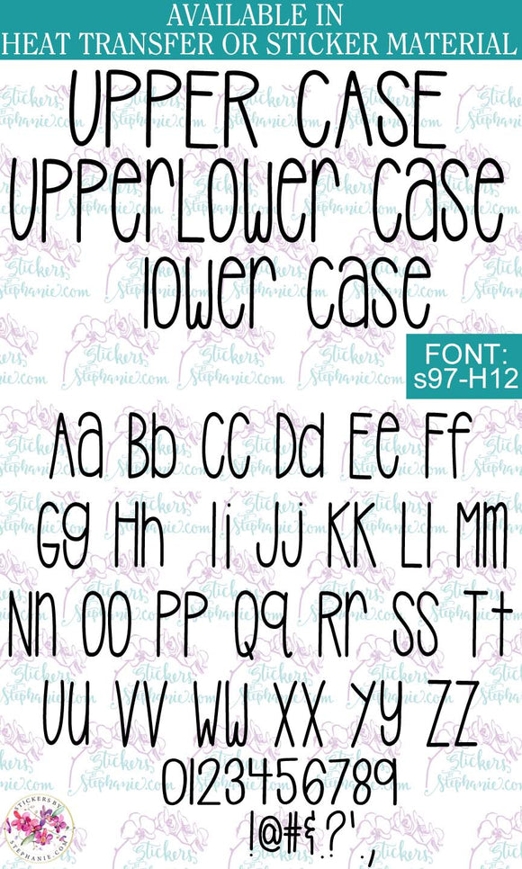 Custom Lettering Name Text  Font: s97-H12 - StickersbyStephanie