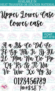 Custom Lettering Name Text  Font: s97-H19 - StickersbyStephanie