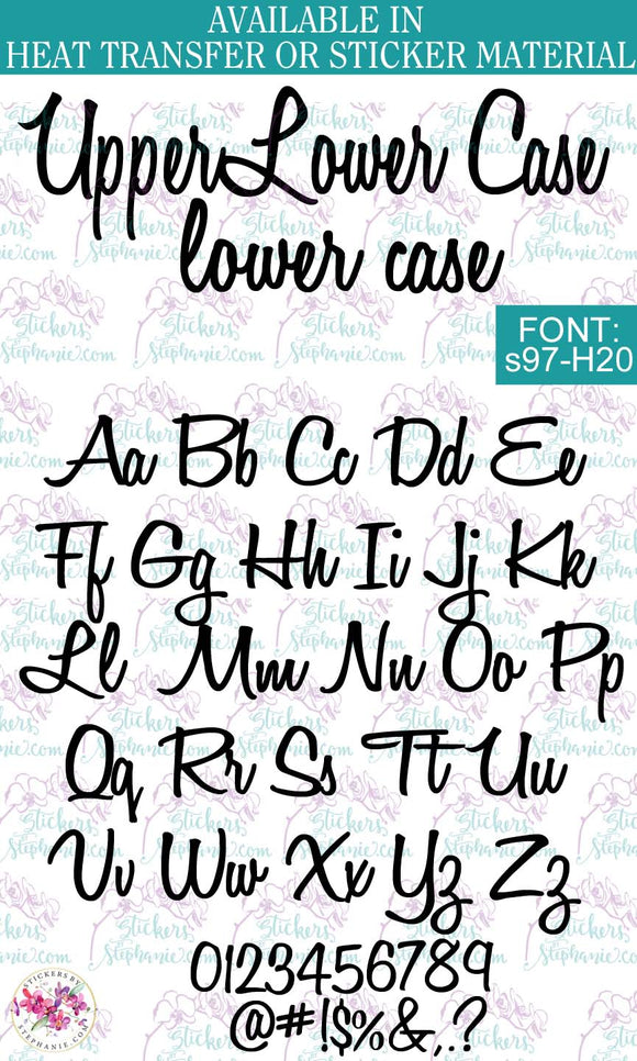 Custom Lettering Name Text  Font: s97-H20 - StickersbyStephanie