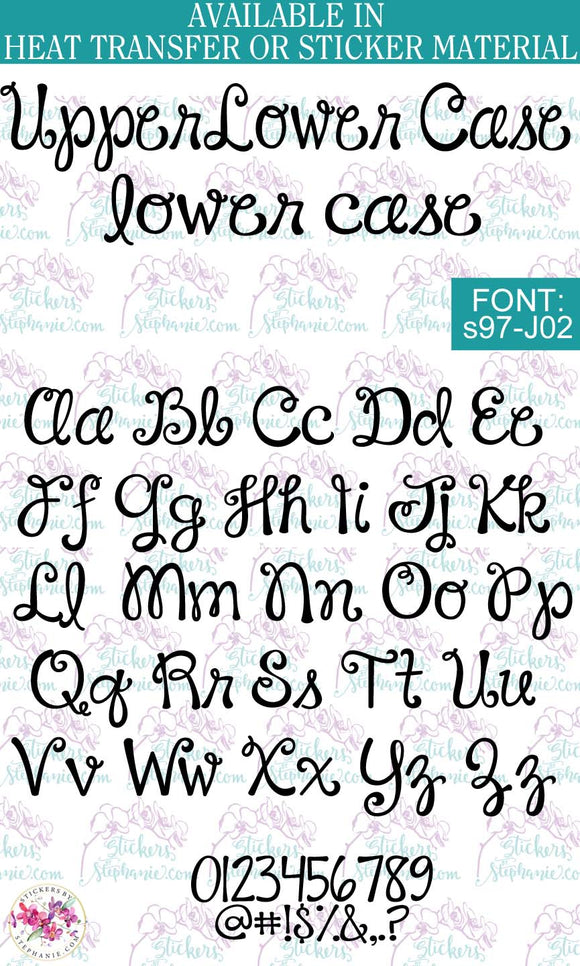 Custom Lettering Name Text  Font: s97-J02 - StickersbyStephanie