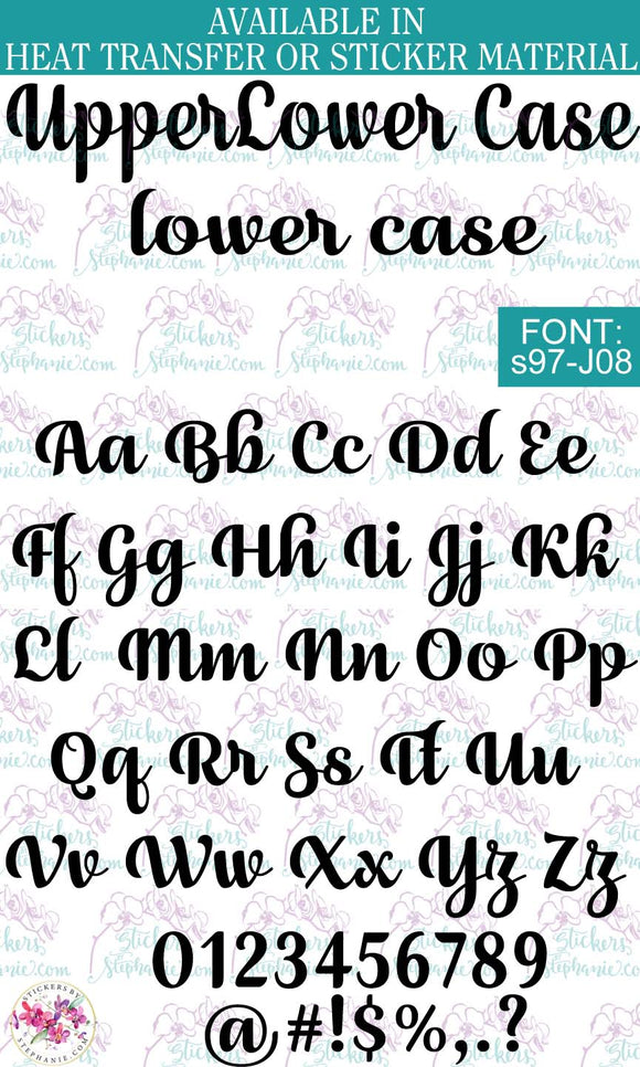 Custom Lettering Name Text  Font: s97-J08 - StickersbyStephanie