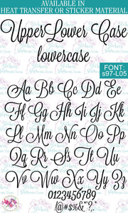 Custom Lettering Name Text  Font: s97-L05 - StickersbyStephanie