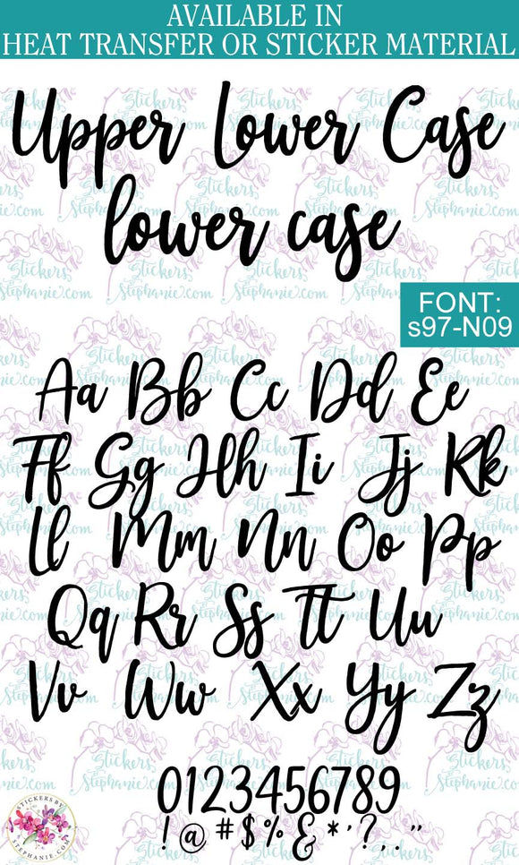 Custom Lettering Name Text  Font: s97-N09 - StickersbyStephanie