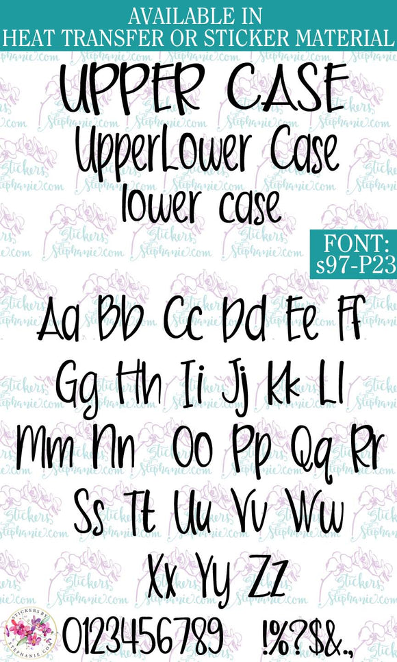 Custom Lettering Name Text  Font: s97-P23 - StickersbyStephanie