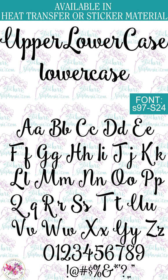 Custom Lettering Name Text  Font: s97-S24 - StickersbyStephanie