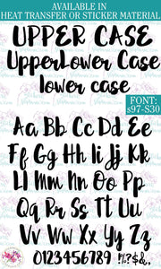 Custom Lettering Name Text  Font: s97-S30 - StickersbyStephanie