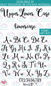 Custom Lettering Name Text  Font: s97-S37 - StickersbyStephanie
