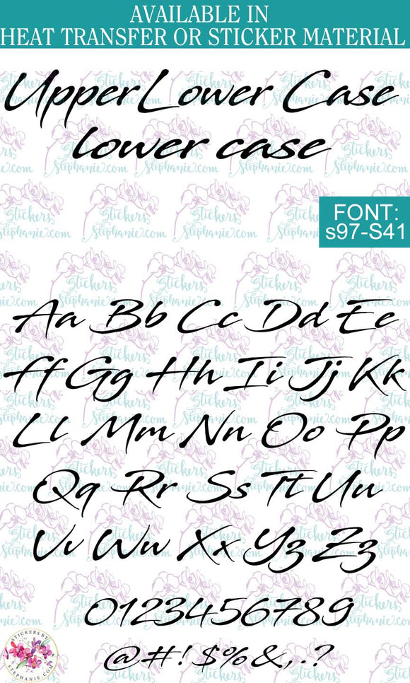Custom Lettering Name Text  Font: s97-S41 - StickersbyStephanie
