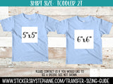 Sizing Guide Help - For Information Only - Toddler 2T 2 Shirt Size