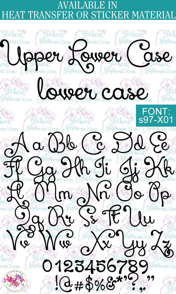 Custom Lettering Name Text  Font: s97-X01 - StickersbyStephanie