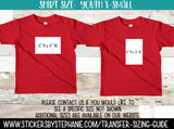 Sizing Guide Help - For Information Only - Youth XS X-Small 2-4 Shirt Size