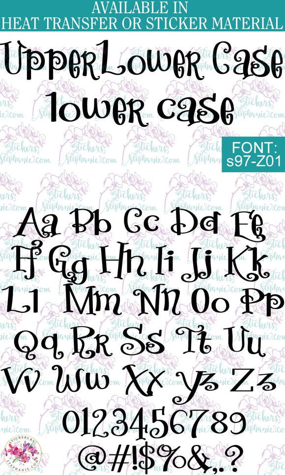Custom Lettering Name Text  Font: s97-Z01 - StickersbyStephanie