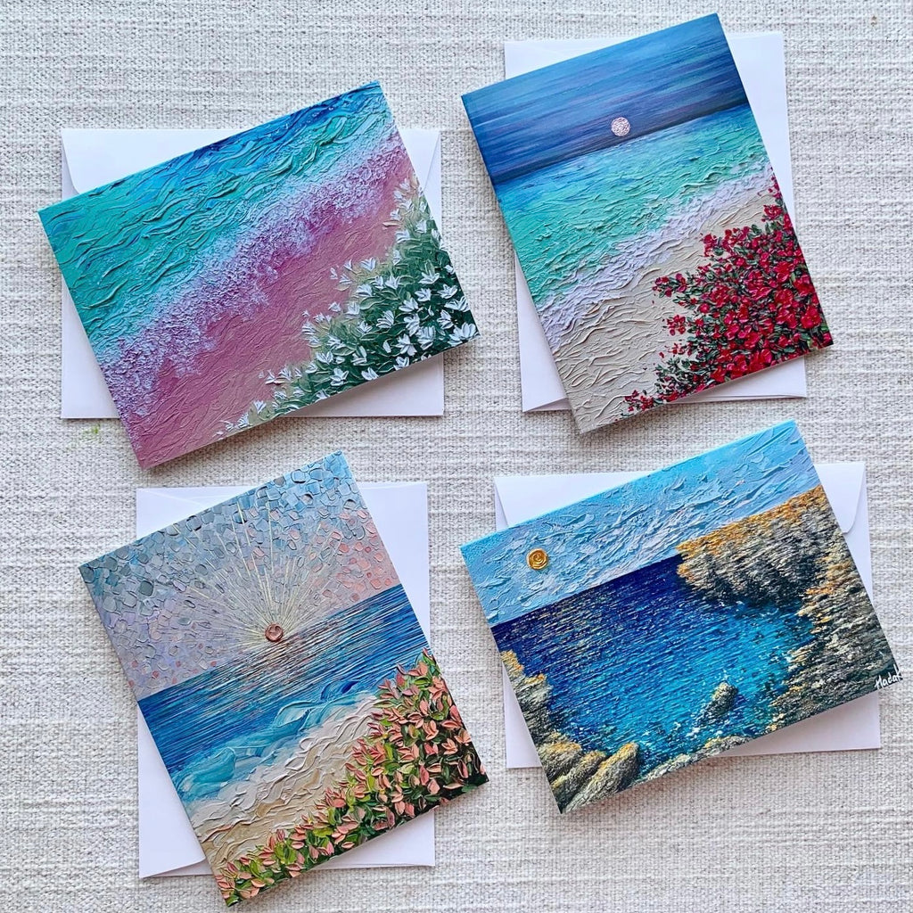 Beach Collection - Set of 4 Greeting Cards