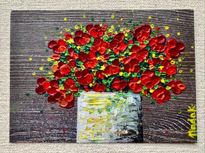 "NEW! ""Red Bouquet Print"""